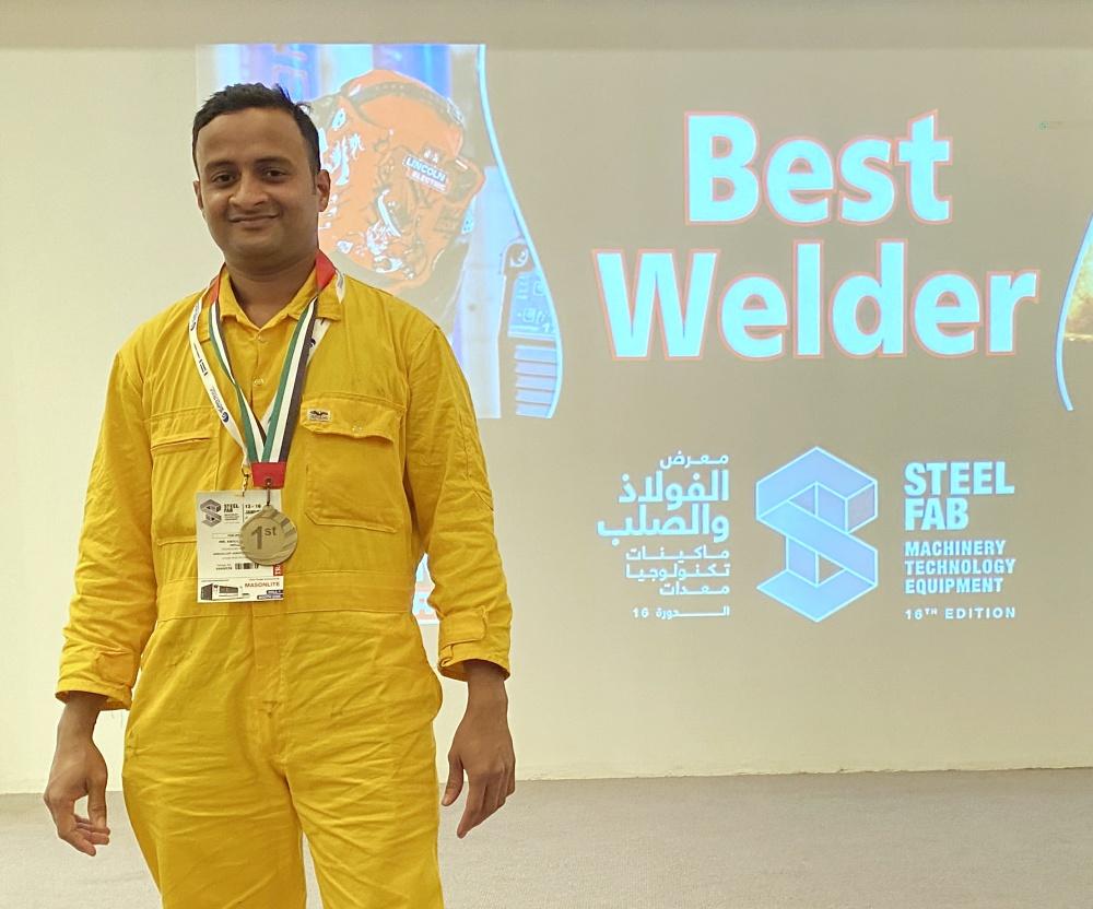 A K Molla - Best Welder 1st Prize 2020 s